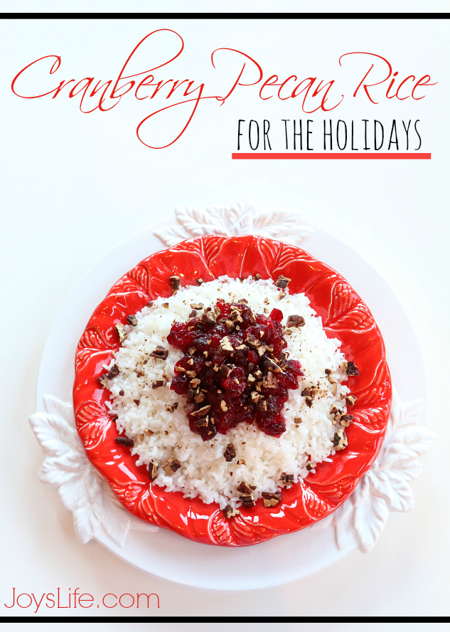 Cranberry Pecan Rice for the Holidays #MinuteHoliday #recipe #sidedish #Christmas #AD