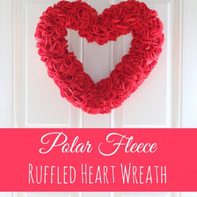 Polar Fleece Ruffled Heart Wreath for Valentine's Day