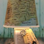 DIY Map Lampshade Makeover Tutorial