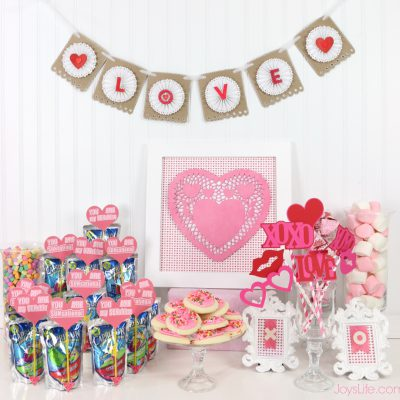 Valentine's Day Party Ideas & Paper Fortune Cookie Tutorial