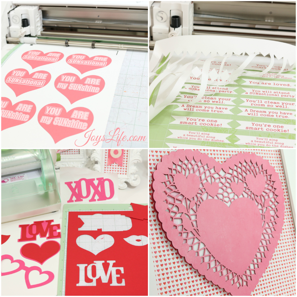 Valentine's Day Party Ideas #CapriSunParties #Ad #SilhouetteCameo #ValentinesDay