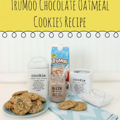 How to Personalize a Cookie Jar with the Silhouette Cameo & a TruMoo Chocolate Oatmeal Cookies Recipe