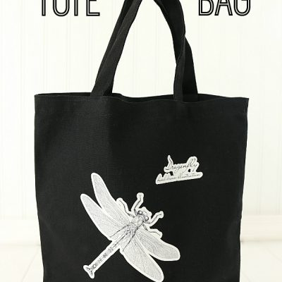 Dragonfly Printable Heat Transfer Tote Bag with Graphic Stock