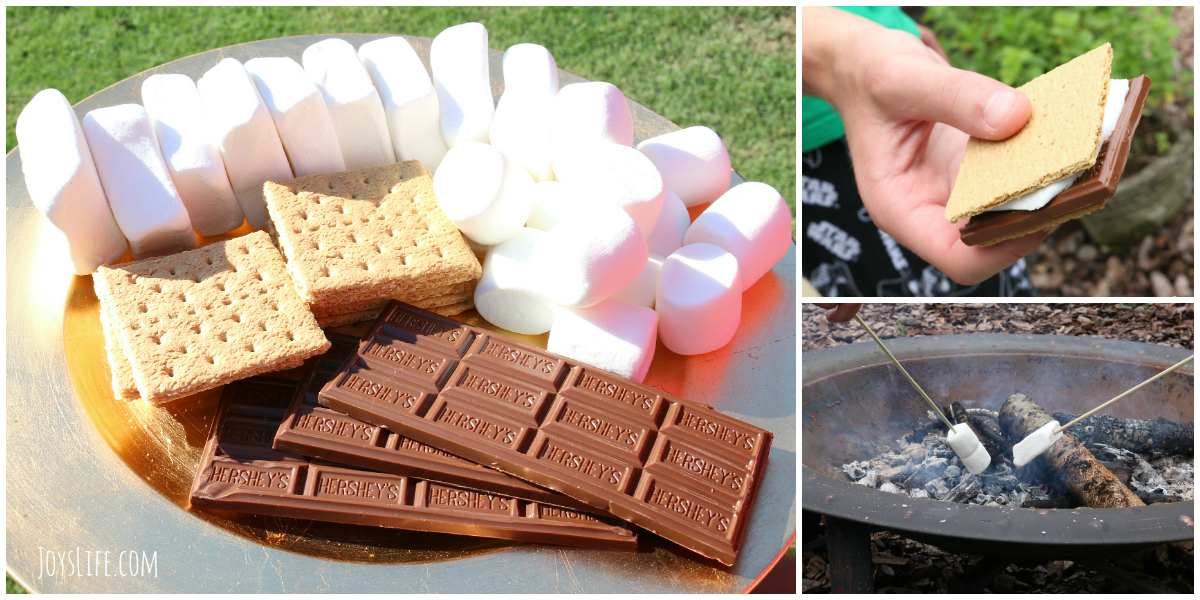 S'Mores Party Backyard Bar #LetsMakeSmores #Ad