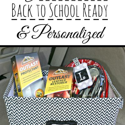 Get the Car Back to School Ready & Personalized