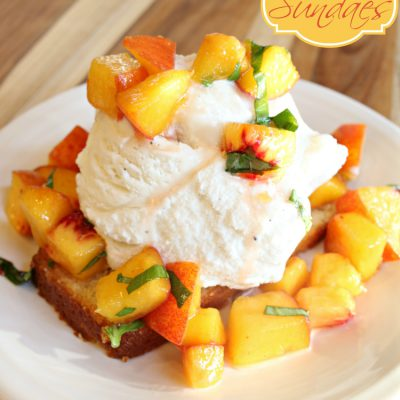 Pound Cake & Peaches Sundae