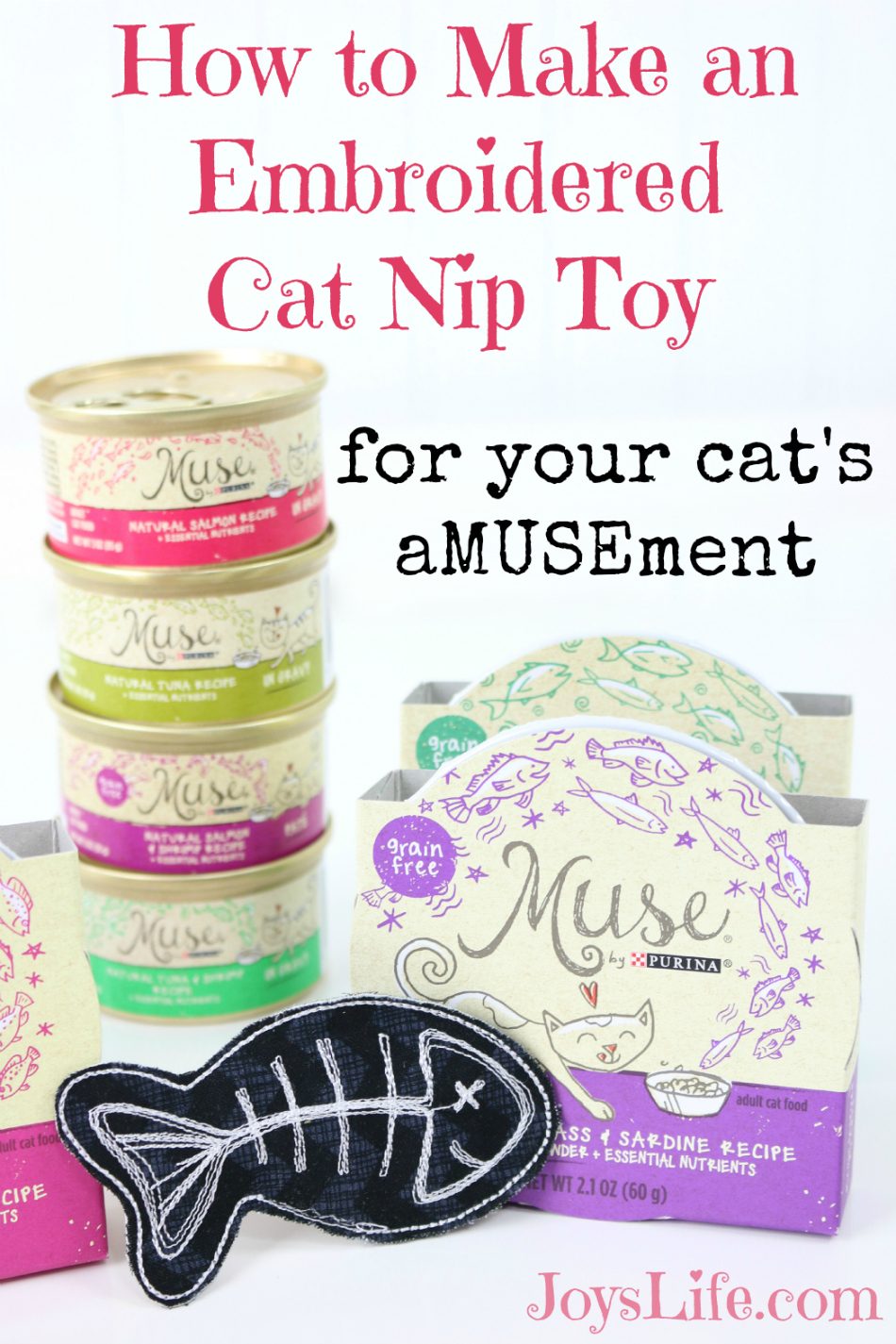 How to Make an Embroidered Cat Nip Toy #MyCatMyMuse #ad