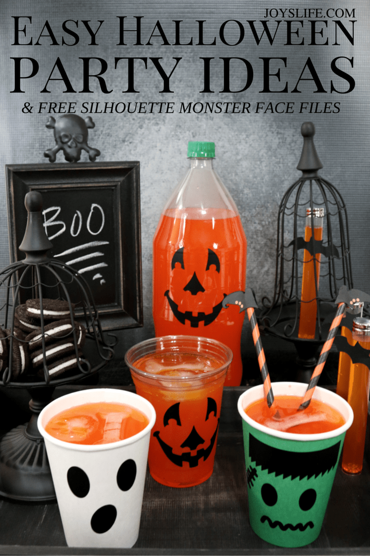 Easy Halloween Party Ideas & Free Silhouette Monster Face File #CVS4FantaFun ad #Halloween #partyideas