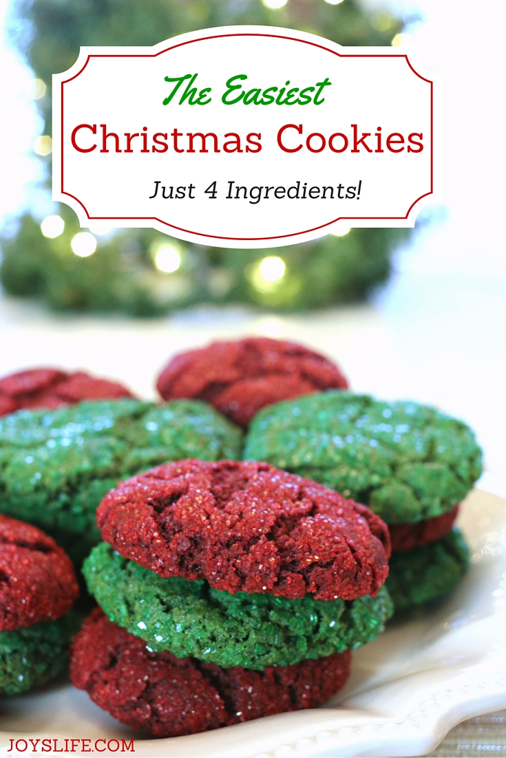 You're going to love making these! They're the easiest Christmas Cookies ever! Just 4 Ingredients! / JoysLife.com