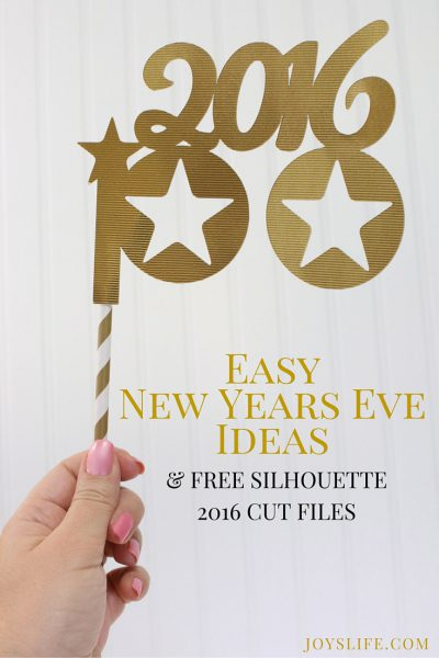 Easy New Year's Eve Ideas & FREE Silhouette 2016 Cut Files