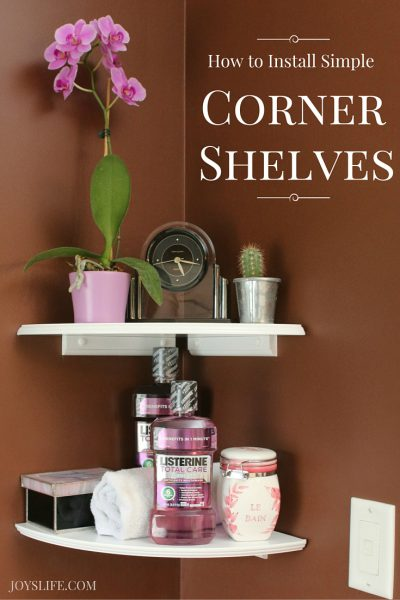 How to Install Simple Corner Shelves