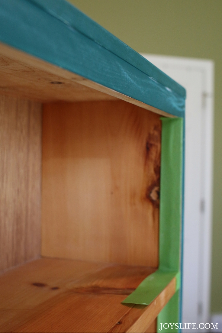 Adding Frog Tape to the Bookcase