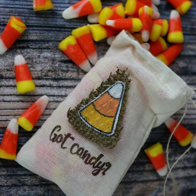 Candy Corn Stamped Fabric Bag – Blog Hop