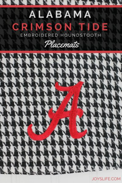Alabama Crimson Tide Embroidered Houndstooth Placemats
