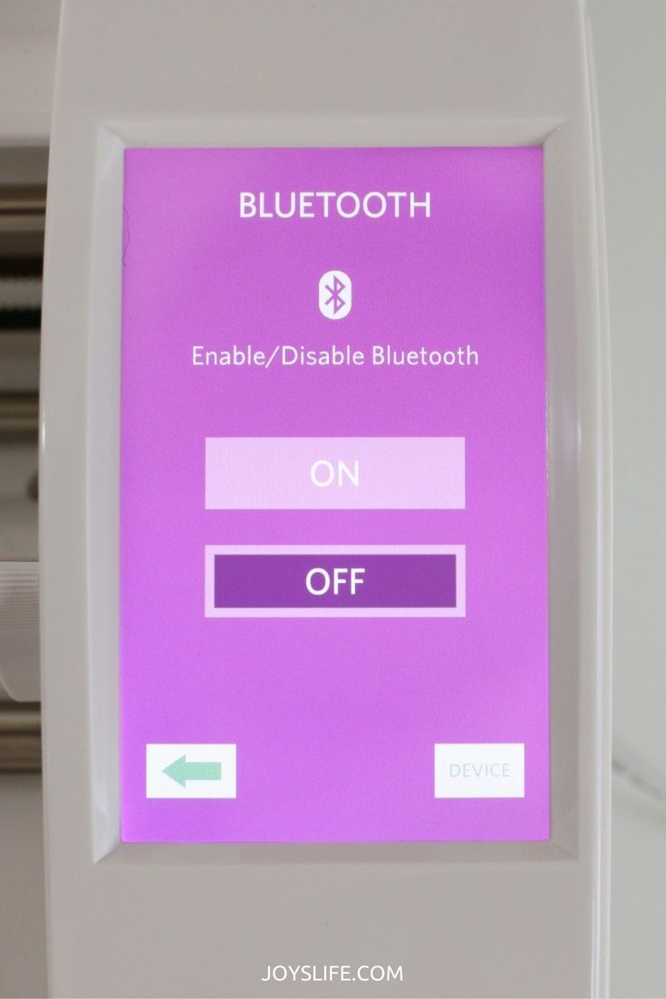 bluetooth screen silhouette cameo3