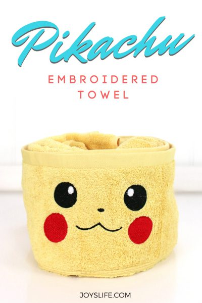 Pikachu Embroidered Towel for Pokemon Fans