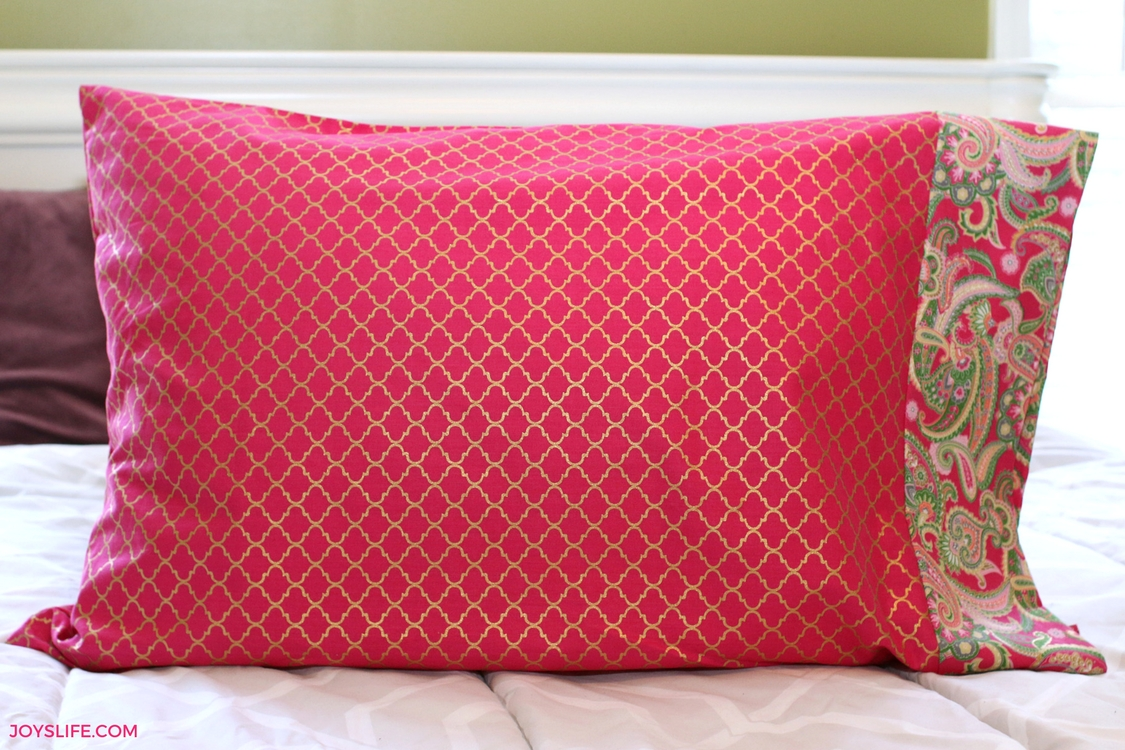 paisley pink pillowcase complete flat