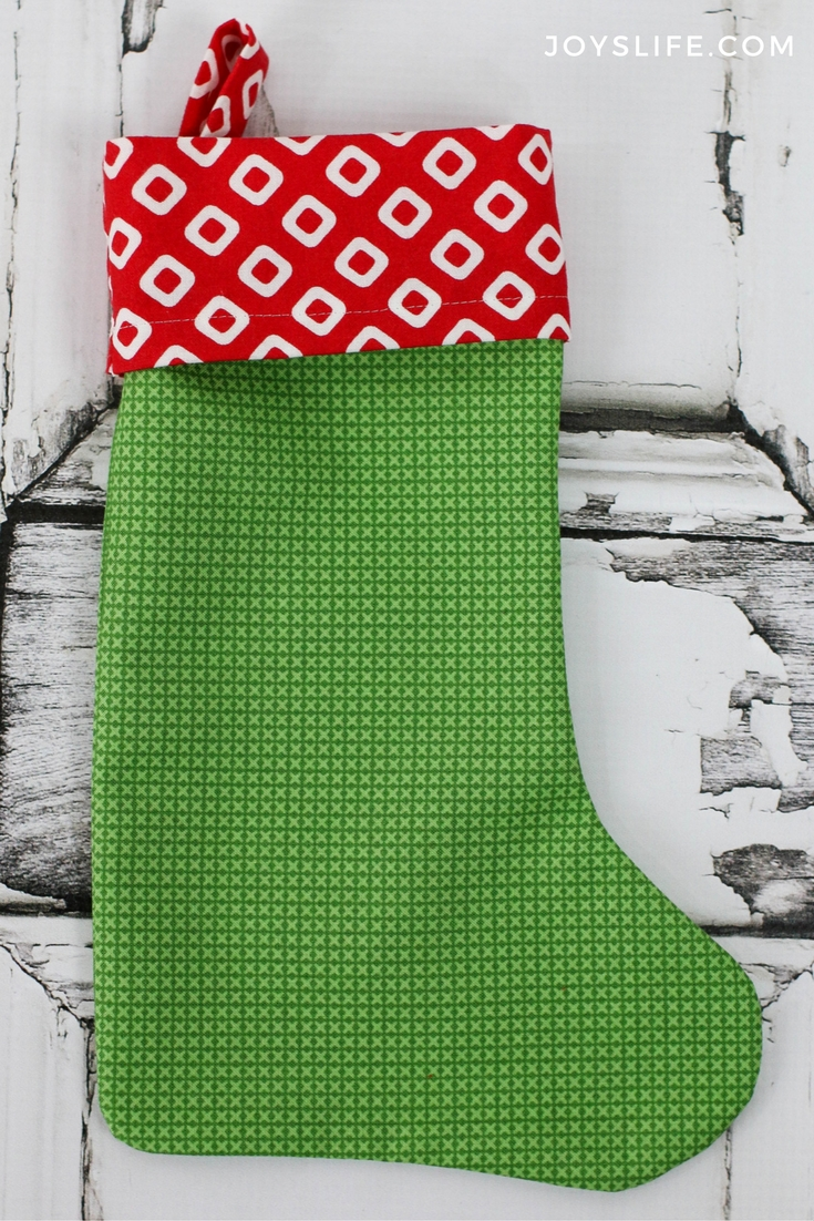 red green Christmas stocking