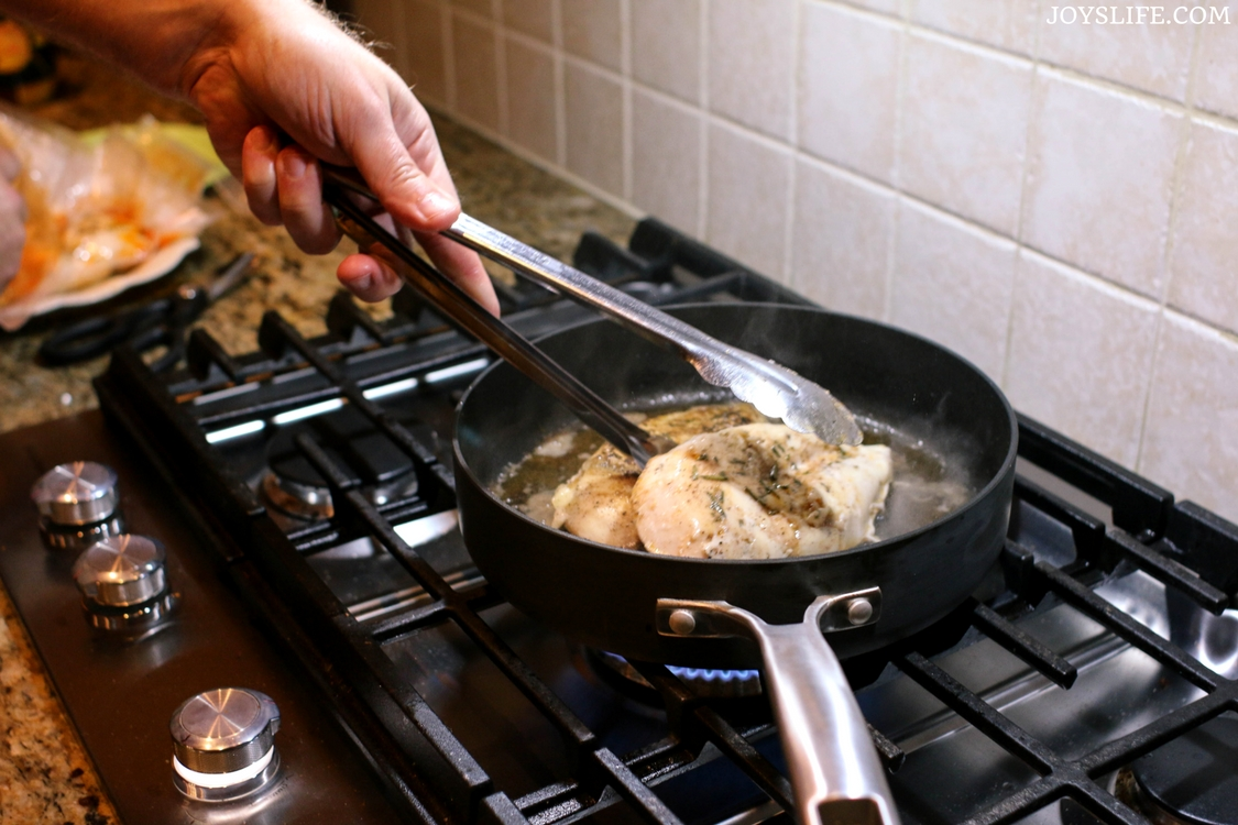 sear rosemary chicken stovetop