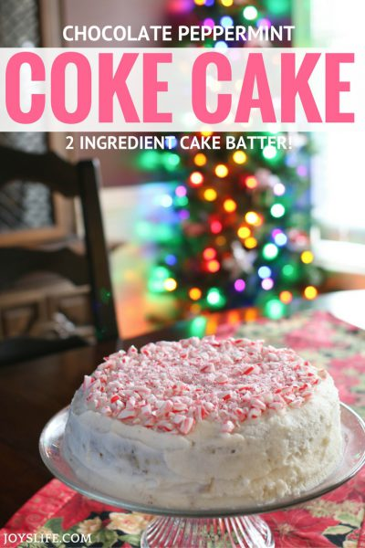 Chocolate Peppermint 2 Ingredient Coke Cake