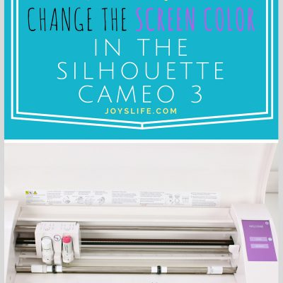 How to Change the Screen Color in the Silhouette Cameo 3