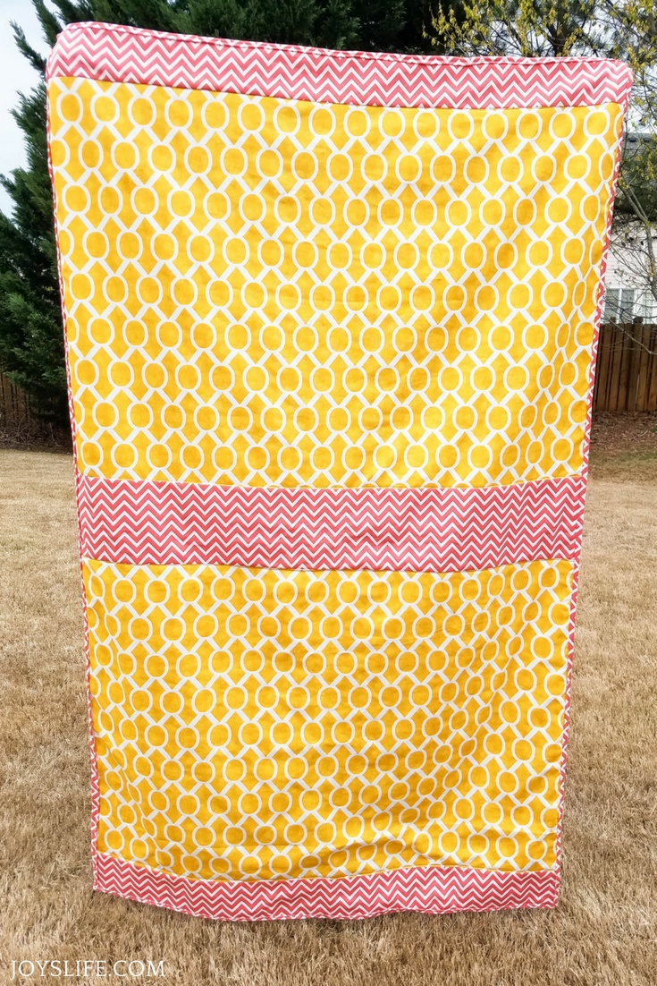 Picnic blanket chevron duck cloth canvas material back
