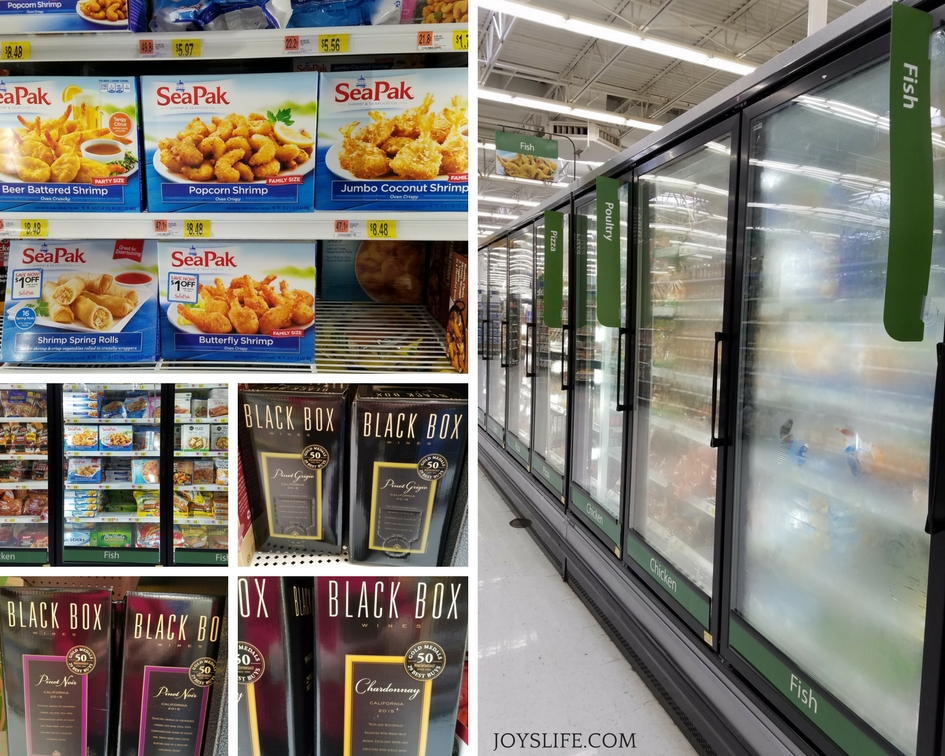 seapak walmart frozen food aisle black box wine