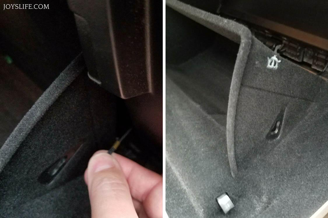 Car interior air quality - Removing Dampener Cord