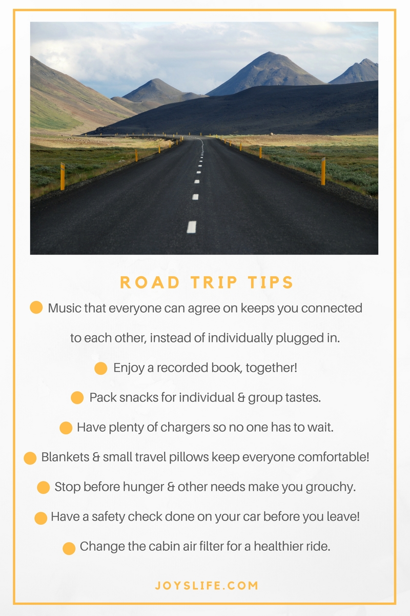 road trip tips 2017