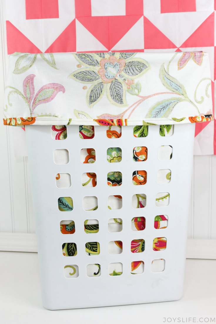 folded laundry hamper liner