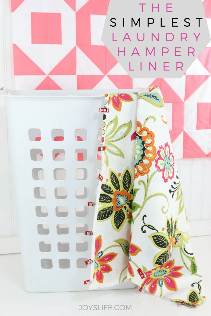 the simplest laundry hamper liner tutorial