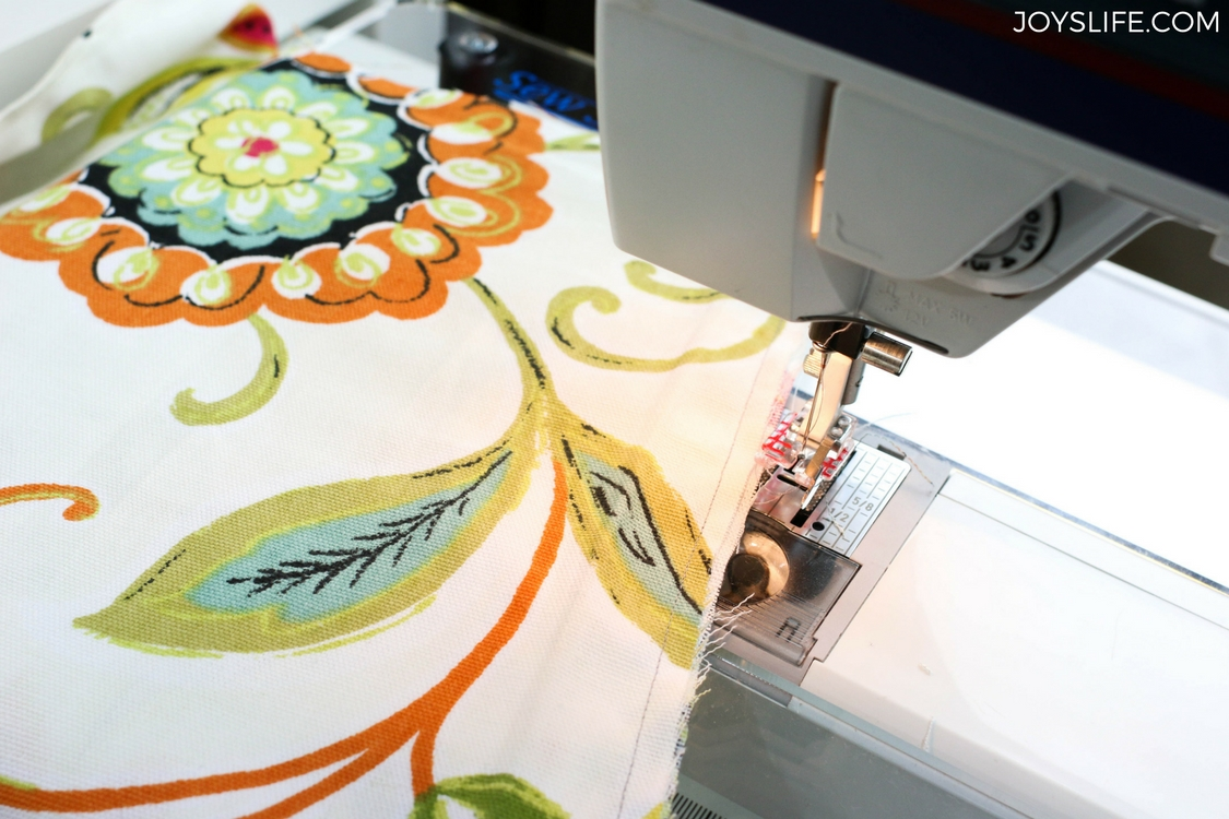 sewing floral duckcloth