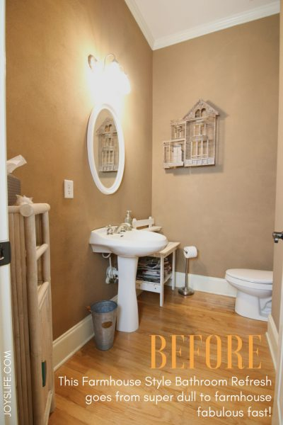Farmhouse Style Bathroom Refresh