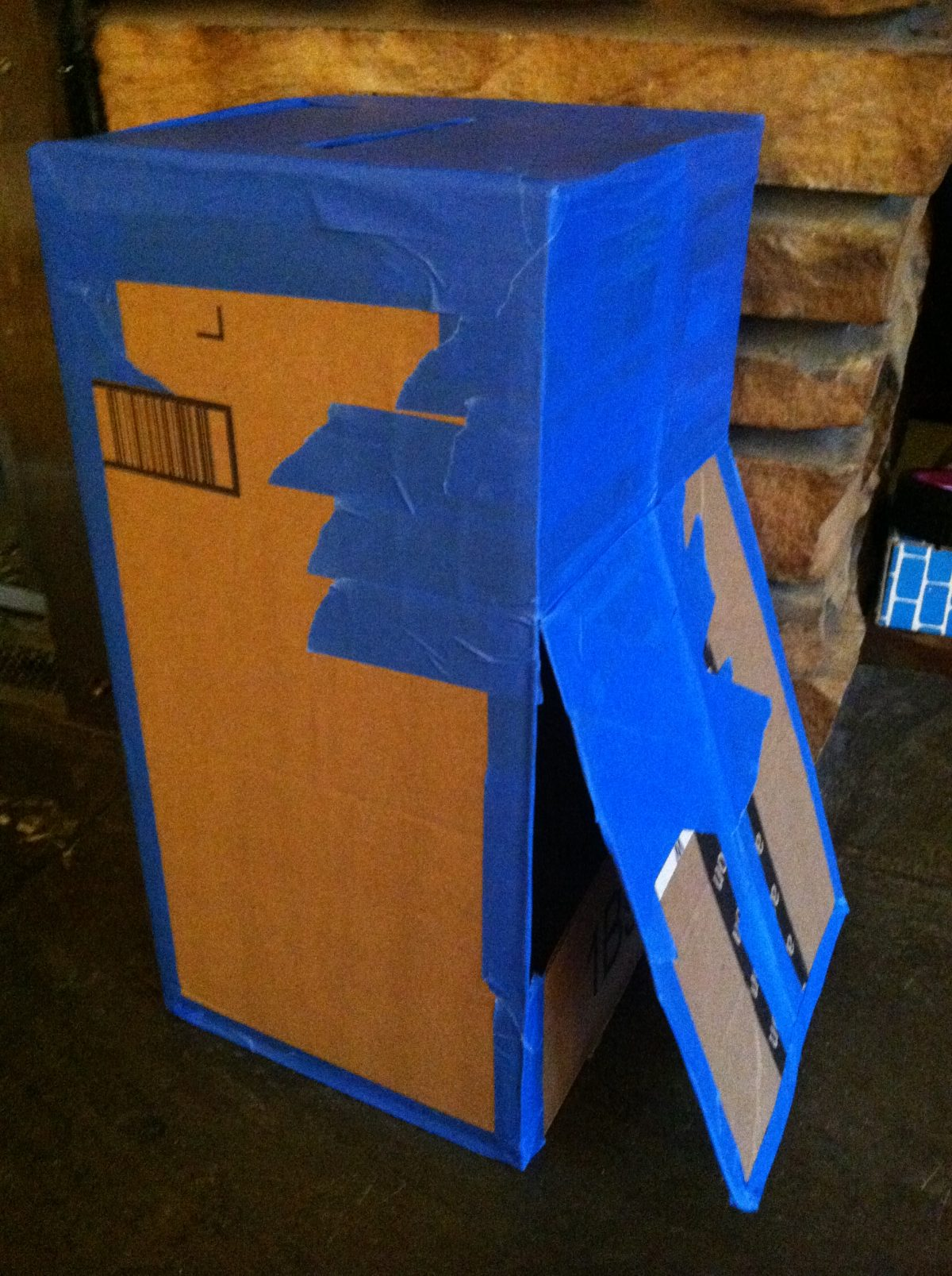 Flapon Diy Cardboard Mailbox Play A Flap On The Back Allows Retrieval Of