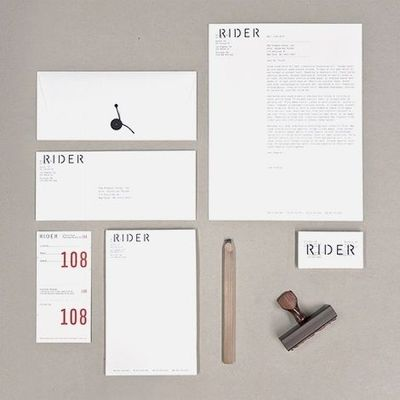 Josh Finklea, Rider identity -unusual letterhead layout / Graphic