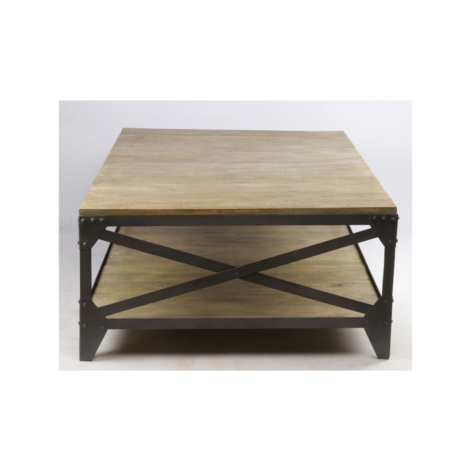 Banc Jardin Fer Table Basse Industrielle