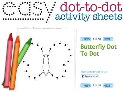 Easy dot to dot printables dot to dots help with rote count