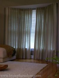 DIY bay window curtain rod / For the home