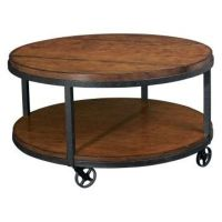 industrial round coffee table / For the home - Juxtapost