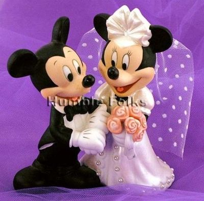 Mickey and Minnie Mouse Disney Wedding Cake Topper / Theme ...
