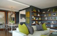 Chartreuse and Grey...could use this scheme for my living ...