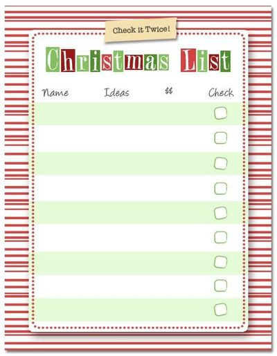 Free Printable Christmas List / christmas xmas ideas - Juxtapost