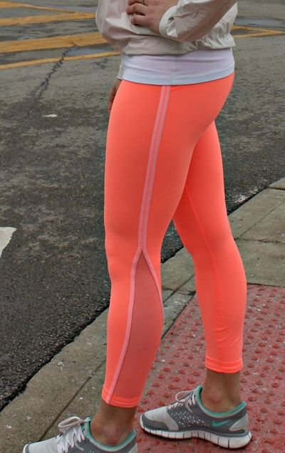 Orange Pacé Pop Orange Pace Tights / Fitness - Juxtapost