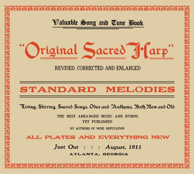 Front cover of Original Sacred Harp: Centennial Edition.