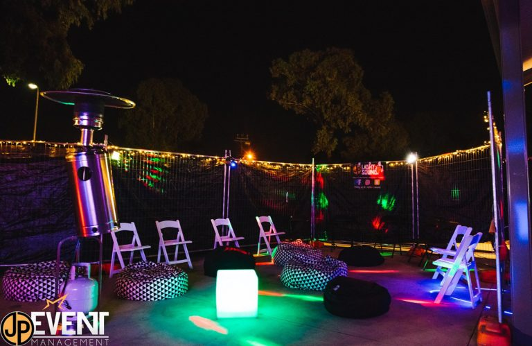 Americana Chairs, Temporary Fencing, Illuminated Furniture, Fairy Lights hire Adelaide