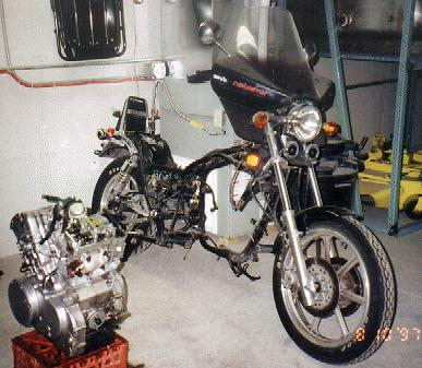 Removing and Reinstalling the VN750 Engine