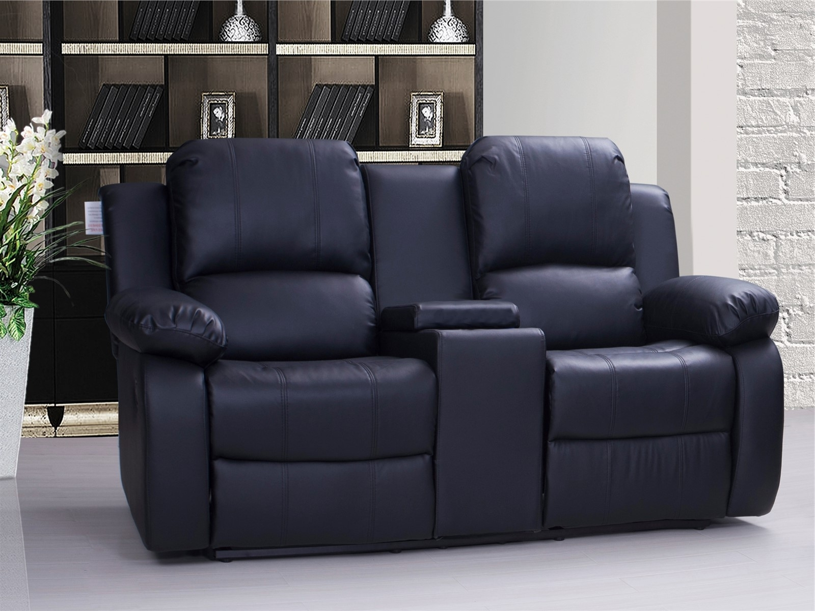 Leather 2 Seater Recliner Sofa | Jamie 3 2 Seater Recliner Sofa Set ...