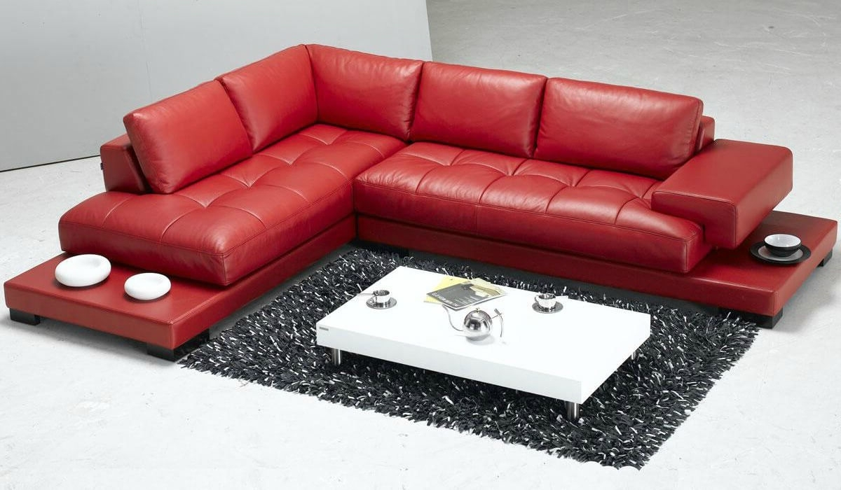 Modern Red Leather Sectional Sofa | Red Modern Leather Sectional ...