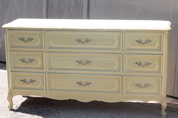 Furniture For Less Custom Painted French Provencal Dresser :: Nursery Tuesday