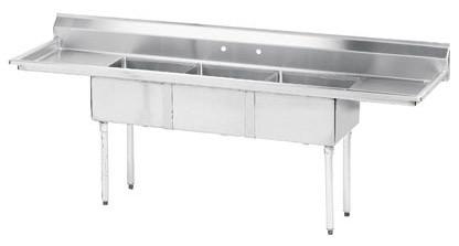 Advance Tabco Fe 3 1824 18rl X 3 Compartment Sink 90quot 2